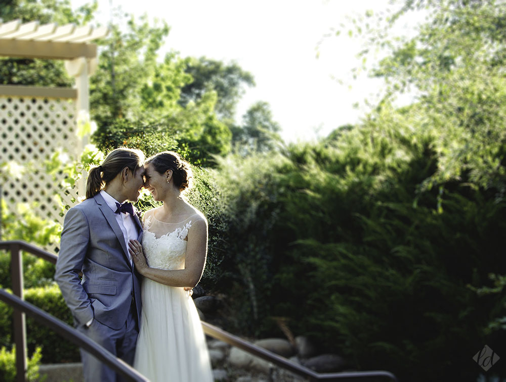 roseville backyard garden wedding