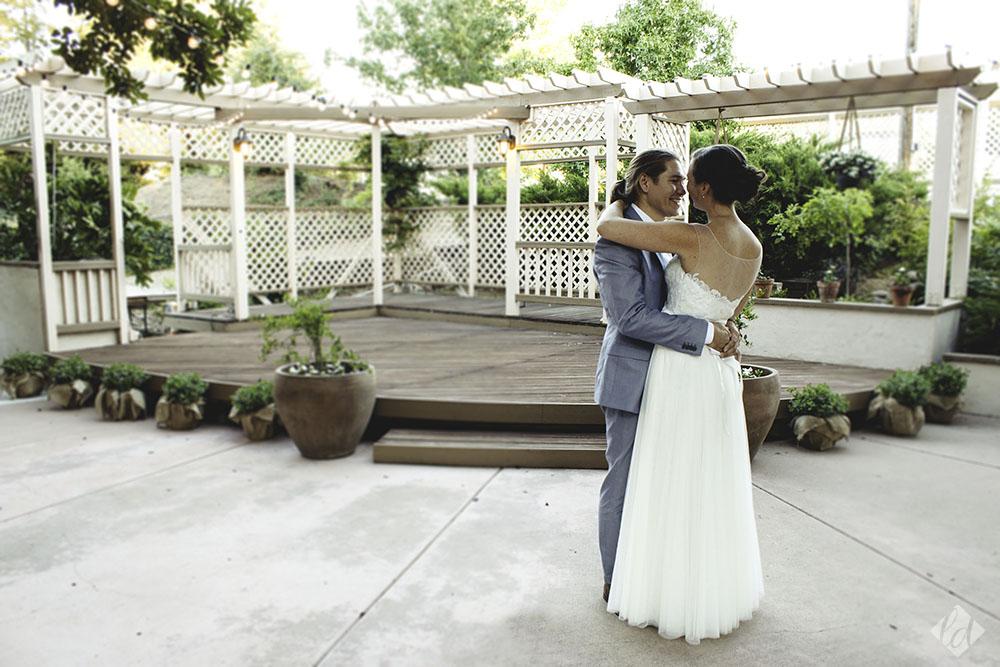 roseville backyard garden wedding